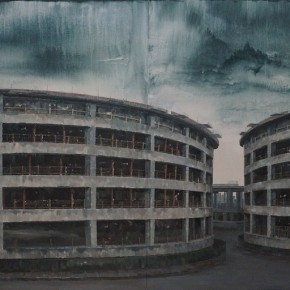 """Li Yiwen Gear Effect III acrylic on canvas 400 x 200 cm 2014 290x290 - ARTMIA Gallery presents """"Landscape of Mind"""" featuring works by young Chinese artists"""