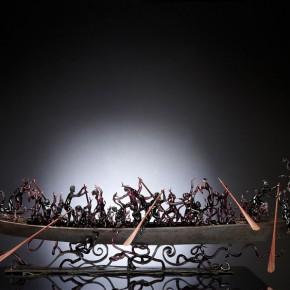 Locio Bubacco,La Barca di Dante, 2013,Flame-worked glass