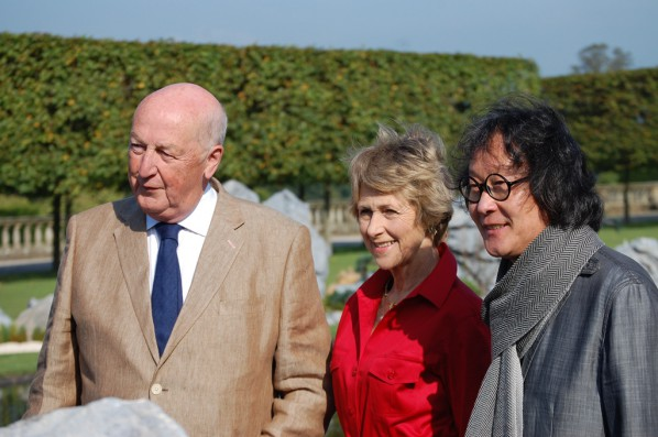 Photo of Xu Bing and honored guests