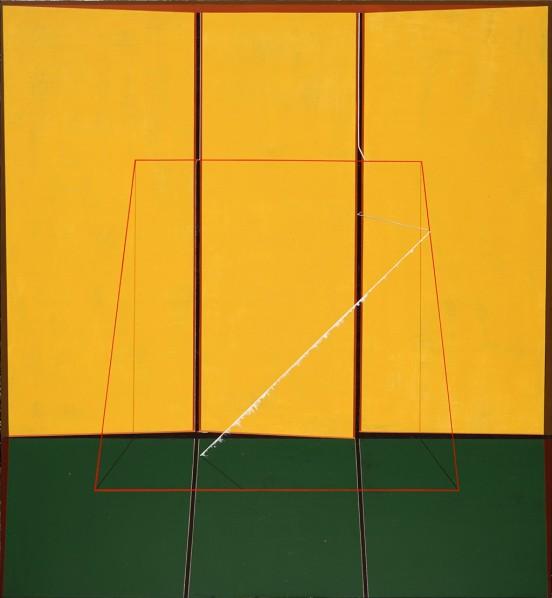 Qian Jiahua, Flow, 2013; acrylic on canvas, 150×135cm