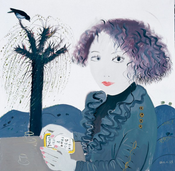 Shen Ling, Where are you, 2011; Oil on canvas, 100×100cm