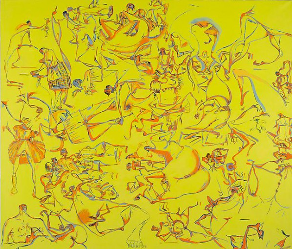 Sue Williams, Darklight, 1996; Oil on canvas, 182.9x213.4cm