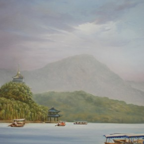 """Work on the Understand China by Insight 10 290x290 - Selected Works by Arabic Distinguished Artists """"Understand China by Insight"""" Tours to China"""