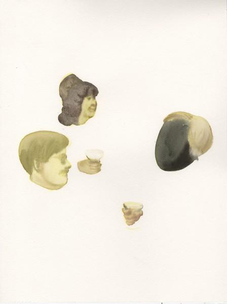 "Zhai Liang, ""Dark Heart of the America"", watercolor on paper, 16.1 x 12 inch, 2014 © 2014 Zhai Liang, courtesy Fou Gallery"
