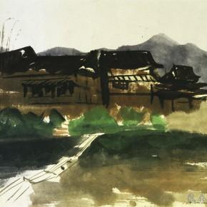 """01 Pei Yongmei """"Dong Village No.2"""" colored ink on paper 41 x 58 cm 2004  290x290 - Pei Yongmei"""