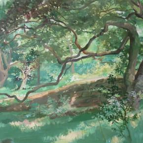 "01 Zhong Genglue ""Green Space No.1"" oil on linen 45 x 60 cm 2014 290x290 - Green Space: Infinite Memories - Zhong Genglue Painting Exhibition"