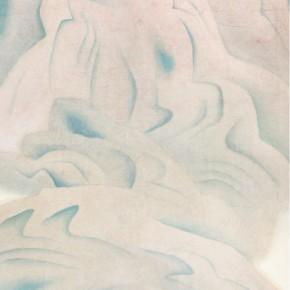 """02 Lu Fusheng """"Mount Zhongnan"""" colored ink 248 x 123 cm 2006 290x290 - """"Between the Visible and Imagination"""" Lu Fusheng Art Exhibition opening at Jiangsu Art Museum"""