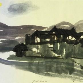 """02 Pei Yongmei """"Dong Village No.1"""" colored ink on paper 41 x 58 cm 2004 290x290 - Pei Yongmei"""