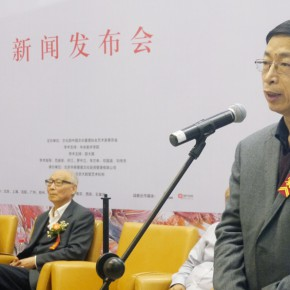 "02 Professor Yin Shuangxi from CAFA addressed the audience 290x290 - ""Pursuit of Excellence – Artists from the Academy"" The First Nationwide Touring Exhibition of Oil Painting Started in CAFA"