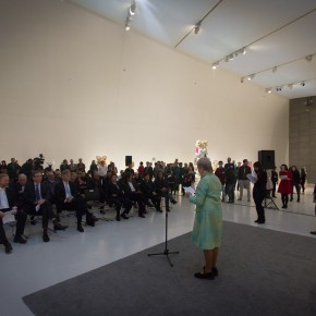 "02 View of the opening ceremony 290x290 - ""Bjørn Nørgaard: Re-modelling the World – again again again"" opened at CAFAM and CAFA received a Poetic Sculpture"