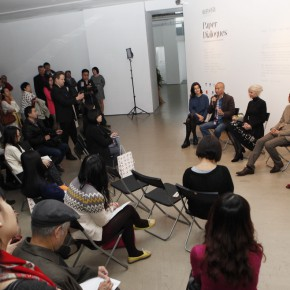 """02 View of the press conference 290x290 - Chinese Dragon Encounters Nordic Dragon """"Paper Dialogue - The Dragon and Our Stories"""" Exhibition Opened at Today Art Museum"""