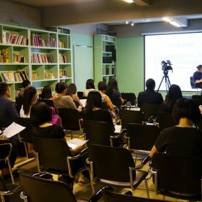 02 View of the press conference of the exhibition 290x290 - Polytypic Evolution: A Close-up Observation Opened in Shenzhen to Reflect the Current Situation of Art Education