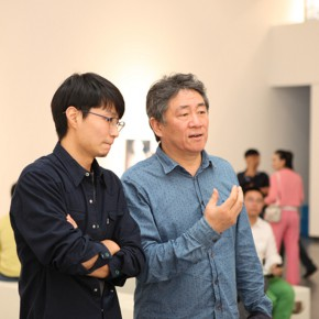 03 Famous artist vice President of the China National Academy of Arts Tan Ping right and Xu Hongxiang 290x290 - Xu Hongxiang's Solo Exhibition – The Sixth Round of 1 in 100 Art Nova Solo Exhibition Series Opened at SZ Art Center