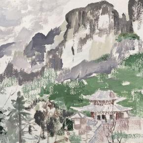 """03 Pei Yongmei """"Lingtong Mountain – Baiyun Temple"""" oil on canvas 46 x 33 cm 2011 290x290 - Pei Yongmei"""