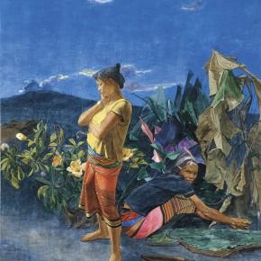 """04 Pei Yongmei """"The Waiting of Waiting for Gala"""" mineral pigment 190 x 170 cm 2009 290x290 - Pei Yongmei"""
