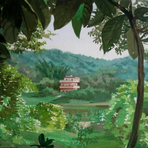"""04 Zhong Genglue """"The Villa in Greenwood"""" oil on canvas 30 x 40 cm 2014 290x290 - Green Space: Infinite Memories - Zhong Genglue Painting Exhibition"""