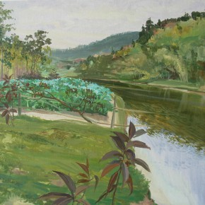 "06 Zhong Genglue ""Shali Gully"" oil on linen 50 x 60 cm 2014 290x290 - Green Space: Infinite Memories - Zhong Genglue Painting Exhibition"