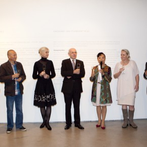 """08 Photo of honored guests 290x290 - Chinese Dragon Encounters Nordic Dragon """"Paper Dialogue - The Dragon and Our Stories"""" Exhibition Opened at Today Art Museum"""