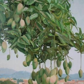 "08 Zhong Genglue ""The Mango Tree in the Mountain"" oil on linen 40 x 30 cm 2014 290x290 - Green Space: Infinite Memories - Zhong Genglue Painting Exhibition"