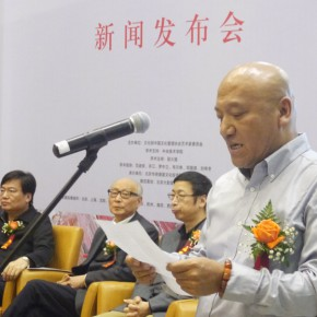 "09 Zheng Yi Director of the Department of Painting of the Academy of Art Design Tsinghua University addressed the audience on behalf of the mentors 290x290 - ""Pursuit of Excellence – Artists from the Academy"" The First Nationwide Touring Exhibition of Oil Painting Started in CAFA"