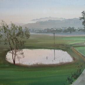 "09 Zhong Genglue ""Dawn of the Field"" oil on linen 30 x 40 cm 2014 290x290 - Green Space: Infinite Memories - Zhong Genglue Painting Exhibition"