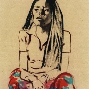 """10 Pei Yongmei """"Wa Woman No.1"""" colored ink on paper 50 x 80 cm 2003 290x290 - Pei Yongmei"""