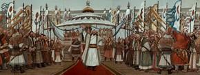 "100 Sun Jingbo, ""The Great Man – Genhis Khan – National Immortals"" (panorama)"