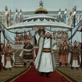 """101 Sun Jingbo, """"The Great Man – Genhis Khan – Founding Ceremony of the State"""""""