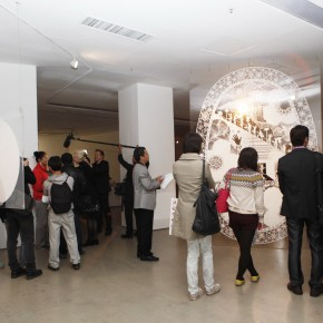 """11 View of the opening ceremony 290x290 - Chinese Dragon Encounters Nordic Dragon """"Paper Dialogue - The Dragon and Our Stories"""" Exhibition Opened at Today Art Museum"""