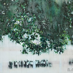 "11 Xu Hongxiang ""Under the Tree"" oil and acrylic on canvas 120 x 140 cm 2012 290x290 - Xu Hongxiang's Solo Exhibition – The Sixth Round of 1 in 100 Art Nova Solo Exhibition Series Opened at SZ Art Center"