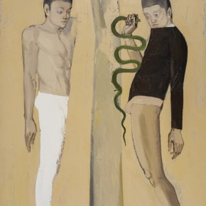 "11 Zhu Xingguo ""The Teenager and Snake"" oil on canvas 180 x 120 cm 2014 290x290 - ""Pursuit of Excellence – Artists from the Academy"" The First Nationwide Touring Exhibition of Oil Painting Started in CAFA"