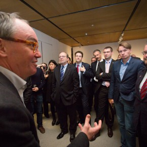 """12 Curator Hans De Wolf led the audience which was present at the exhibition to visit the exhibition 290x290 - """"Master Mould and Copy Room"""" grandly opened in the CAFA Art Museum"""