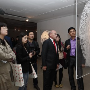 """12 View of the opening ceremony 290x290 - Chinese Dragon Encounters Nordic Dragon """"Paper Dialogue - The Dragon and Our Stories"""" Exhibition Opened at Today Art Museum"""