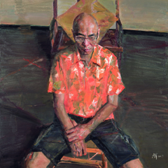 "12 Yang Canjun ""Chen Zizhou's Portrait"" oil on canvas 100 x 100 cm 2013 - ""Pursuit of Excellence – Artists from the Academy"" The First Nationwide Touring Exhibition of Oil Painting Started in CAFA"