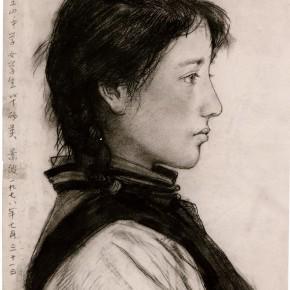 """124 Sun Jingbo, """"A Sani Girl"""", 46 x 35 cm, 1978"""