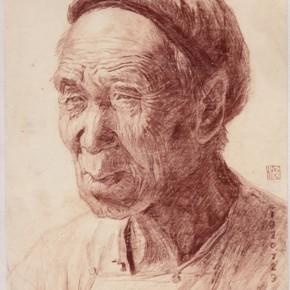 """128 Sun Jingbo, """"The Landlord Uncle Wu"""", 20 x 13 cm, 1970"""