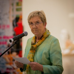 "13 Ms. Marianne Jelved Minister of Danish Minister of Culture addressingthe ceremony 290x290 - ""Bjørn Nørgaard: Re-modelling the World – again again again"" opened at CAFAM and CAFA received a Poetic Sculpture"