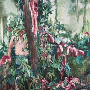"""14 Xu Hongxiang, """"Red and Green"""", oil and acrylic on canvas, 180 x 260 cm, 2013"""