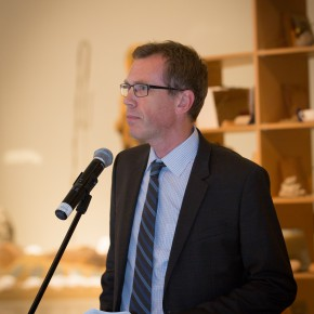 "15 Mr. Mikkel Bogh Director of Statens Museum for Kunst SMK addressing the ceremony 290x290 - ""Bjørn Nørgaard: Re-modelling the World – again again again"" opened at CAFAM and CAFA received a Poetic Sculpture"