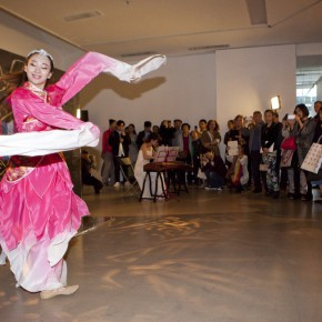 """15 View of the opening ceremony 290x290 - Chinese Dragon Encounters Nordic Dragon """"Paper Dialogue - The Dragon and Our Stories"""" Exhibition Opened at Today Art Museum"""