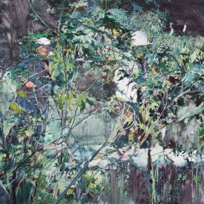 """16 Xu Hongxiang, """"The Back of the Tree No.2"""", oil and acrylic on canvas, 180 x 260 cm, 2013"""