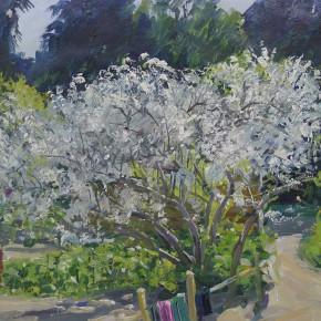 """17 Sun Jingbo, """"Ruili in March"""", oil painting, 39 x 56 cm, 1974"""