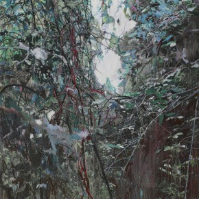 """17 Xu Hongxiang, """"The White Wall No.2"""", 130 x 195 cm, oil and acrylic on canvas, 2013"""