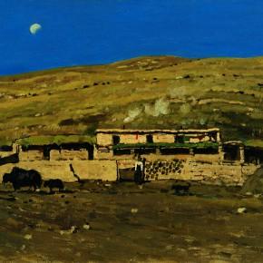 """18 Sun Jingbo, """"Yushu Batang in Qinghai"""", 54 x 79 cm, 2000"""