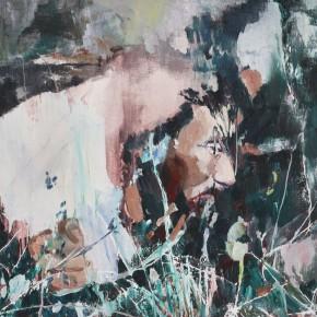 """18 Xu Hongxiang, """"Hiding No.2"""", oil and acrylic on canvas, 60 x 80 cm, 2014"""
