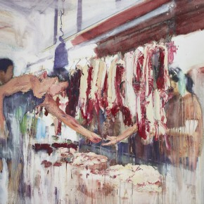 "21 Xu Hongxiang ""Flesh"" oil and acrylic on canvas 130 x 180 cm 2013 290x290 - Xu Hongxiang's Solo Exhibition – The Sixth Round of 1 in 100 Art Nova Solo Exhibition Series Opened at SZ Art Center"