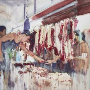 "21 Xu Hongxiang, ""Flesh"", oil and acrylic on canvas, 130 x 180 cm, 2013"