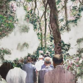 "22 Xu Hongxiang, ""Walking Forward"", oil and acrylic on canvas, 130 x 180 cm, 2012"