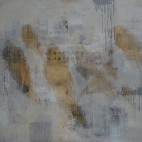 """22 Yi Meng """"Trace of Injury No.2"""" 130 x 150 cm mixed media on canvas 2012 290x290 - New Generation of Abstract Art - Sishang Art Museum Experimental Plan in the Third Round Opened"""