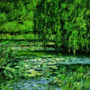 25 Sun Jingbo, Monet Garden, 2002; Oil on canvas, 60×80cm